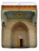 the main entrance, doorway, door, Asia Duvet Cover