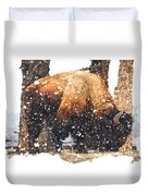 The Majestic Bison Duvet Cover