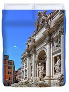 The Majesty Of The Trevi Fountain In Rome Duvet Cover