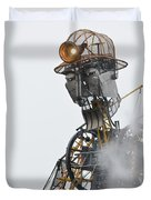 The Man Engine And His Man Duvet Cover
