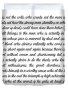 The Man In The Arena By Theodore Roosevelt Duvet Cover