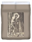 The Man Of Sorrows At The Foot Of The Cross Duvet Cover