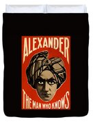 The Man Who Knows Duvet Cover