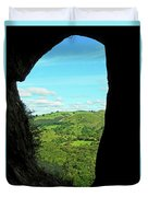 The Manifold Valley From Thor's Cave Duvet Cover