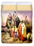 The March Of Abraham Duvet Cover