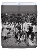 The March On Washington  Freedom Walkers Duvet Cover