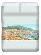 The Marina In Monaco Duvet Cover