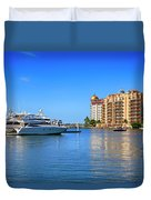 The Marina Sarasota Fl Duvet Cover