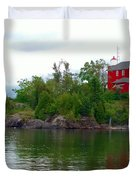 The Marquette Lighthouse Duvet Cover