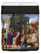 The Marriage At Cana Duvet Cover by Julius Schnorr von Carolsfeld