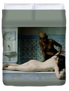 The Massage Duvet Cover by Edouard Debat-Ponsan