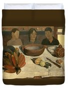 The Meal Duvet Cover by Paul Gauguin