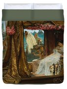 The Meeting Of Antony And Cleopatra By Lawrence Alma-tadema Duvet Cover