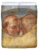 The Meeting Of St Francis And St Dominic  Duvet Cover