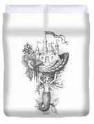 The Mermaid Fantasy Duvet Cover