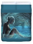 The Mermaid Of The Blue Cave Duvet Cover