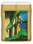The Mermaid On The Window Sill Duvet Cover