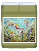The Mermaids Of Weeki Wachee State Park Duvet Cover