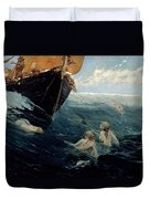 The Mermaid's Rock Duvet Cover by Edward Matthew Hale