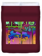 The Merry-go-round Of Life Duvet Cover