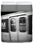 The Metro Is The Subway Train Duvet Cover
