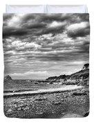 The Mewstone, Wembury Bay, Devon #view Duvet Cover