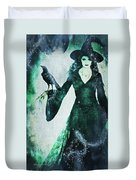 The Midnight Garden Witch Duvet Cover