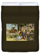 The Midnight Ride Of Paul Revere 1775 Duvet Cover by Photo Researchers