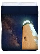 The Milky Way Over Pemaquid Point Duvet Cover