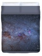 The Milky Way Through Carina And Crux Duvet Cover