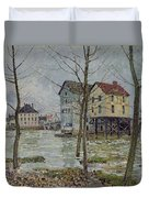 The Mills At Moret Sur Loing Duvet Cover