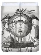 The Minerva Balloon Designed By  Tienne Duvet Cover