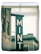 The Mint Classic Neon Sign Livingston Montana Duvet Cover