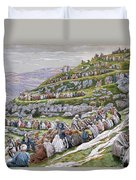 The Miracle Of The Loaves And Fishes Duvet Cover