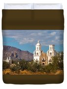 The Mission And The Mountains Duvet Cover