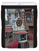 The Mission Inn Clock Tower Duvet Cover