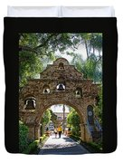The Mission Inn Entrance Duvet Cover