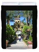 The Mission Inn Stage Coach Entrance Duvet Cover