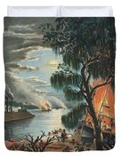 The Mississippi In Time Of War, 1865  Duvet Cover