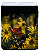 The Monarch And The Sunflower Duvet Cover