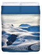 The Monte Rosa Glacier In Switzerland Duvet Cover