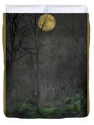 The Moon Over Guisecliff Duvet Cover