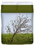 The More The Merrier- Tree Swallows  Duvet Cover
