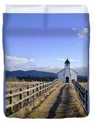 The Morley Church, Alberta, Canada Duvet Cover