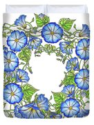 The Morning Glory Circle Watercolor Duvet Cover
