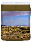 The Morning Train By Route 66 Duvet Cover