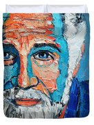 The Most Interesting Man In The World Duvet Cover by Ana Maria Edulescu