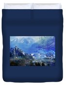 The Mountains Melting Snows Duvet Cover