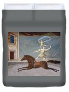 The Mounted Acrobats Duvet Cover