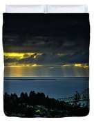 The Mouth Of The Columbia River Duvet Cover